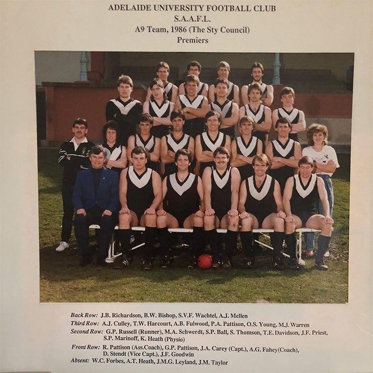 Adelaide-University-Football-Club-1986-A9-Premiers